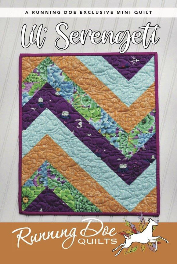 Lil' Serengeti Pattern by Running Doe Quilts