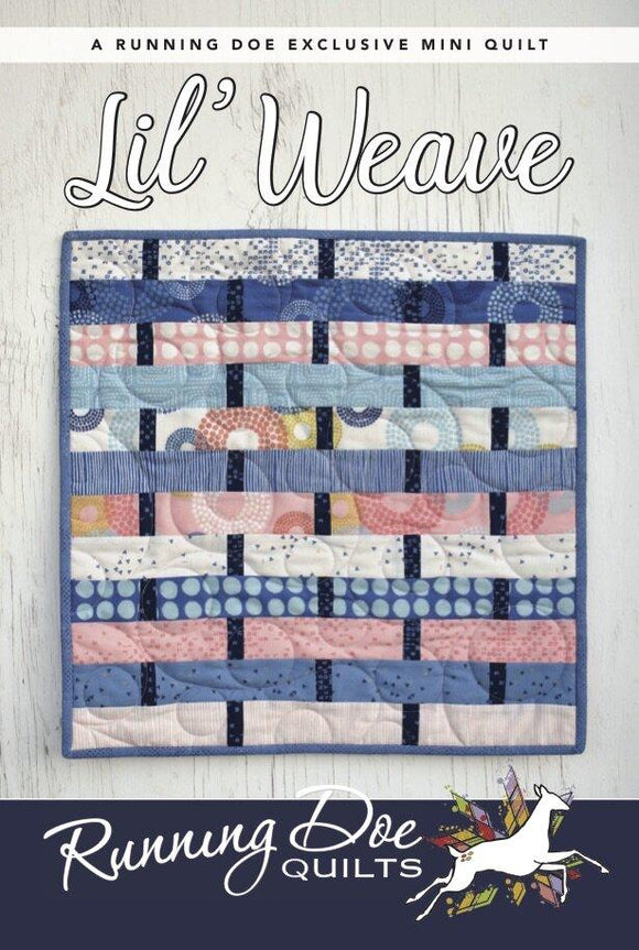 Lil' Weave Pattern by Running Doe Quilts