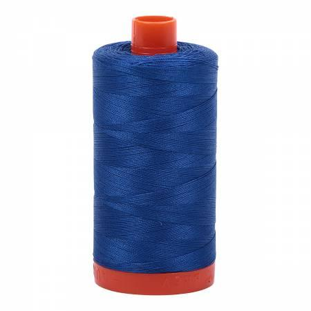 Mako Cotton Thread Solid 50wt 1422yds Med Blue 2735