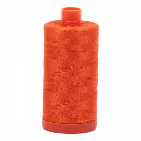 Mako Cotton Thread Solid 50wt 1422yds Neon Orange 1104