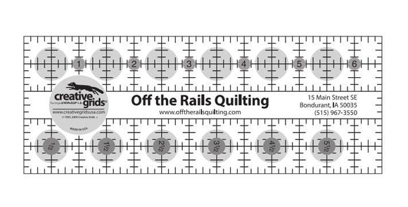 Off The Rails Quilting Creative Grids Ruler 6 1/2