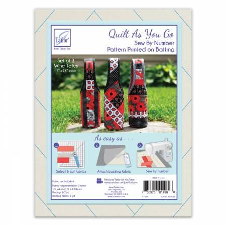 Quilt As You Go Wine Totes Preprinted  Batting