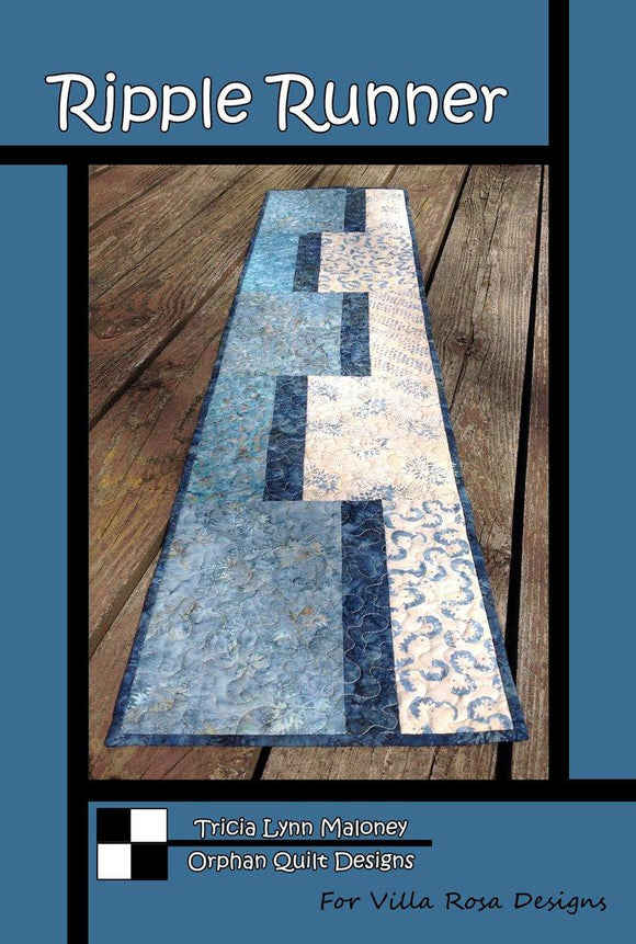 Ripple Runner by Orphan Quilt Designs from Villa Rosa Designs
