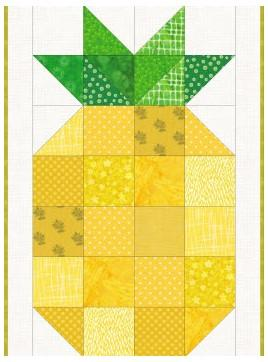 Tensisters Welcome Pineapple Pattern and Grid Only