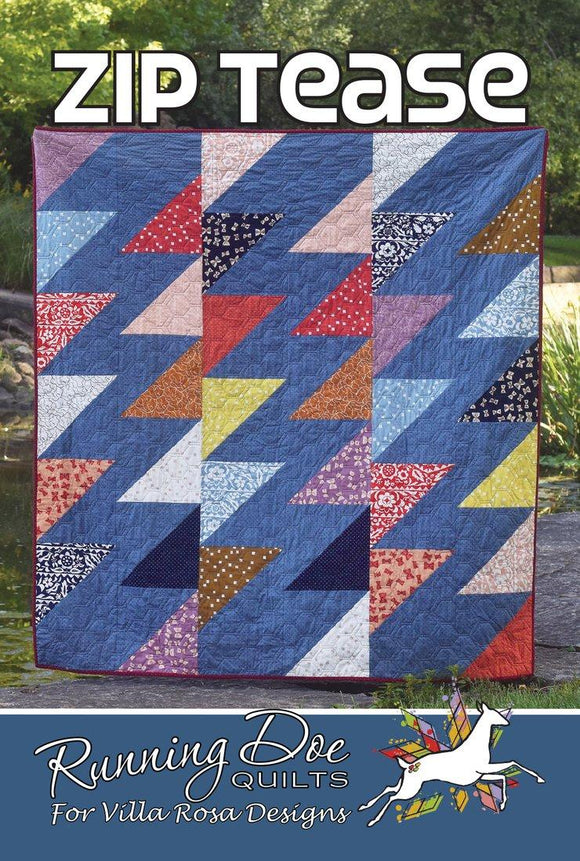 Zip Tease by Running Doe Quilts for Villa Rosa Designs