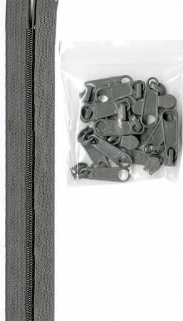 Zippers by the Yard - Pewter