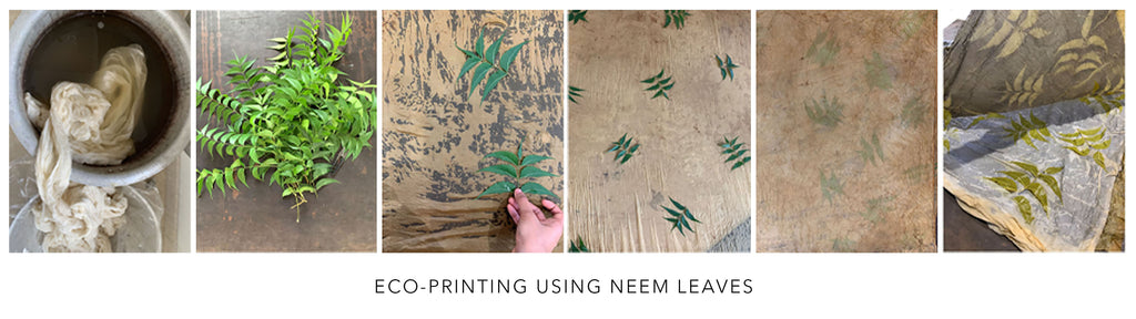 Ecoo printing using neem leaves
