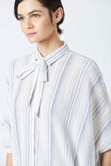 Striped Kaftan Dress With Slip