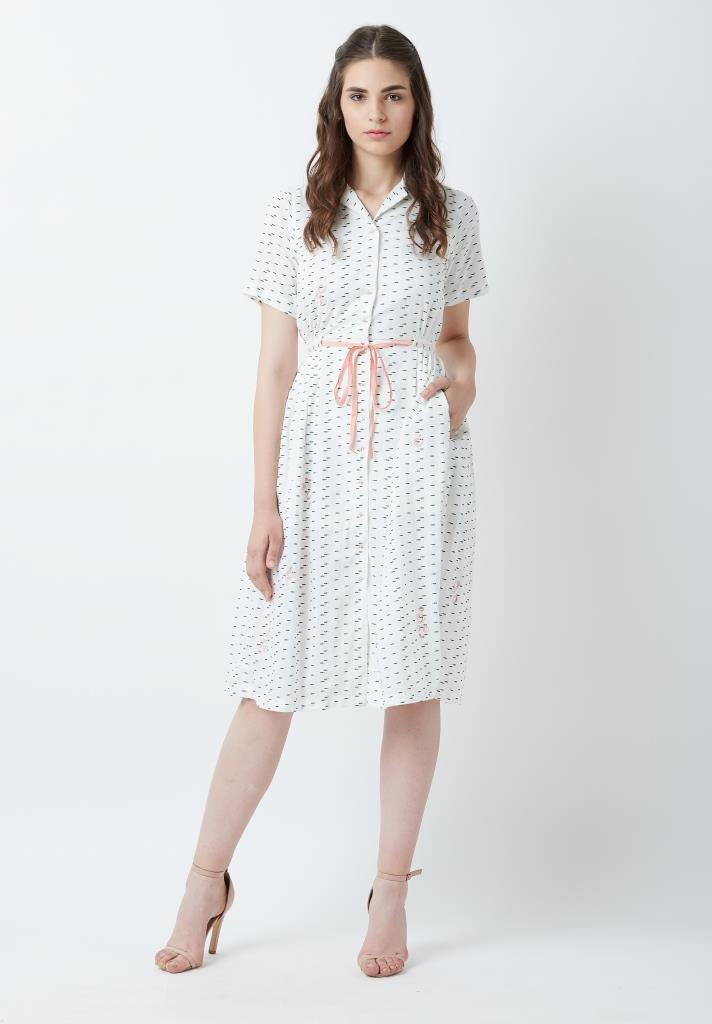 Fish Print Emma Dress