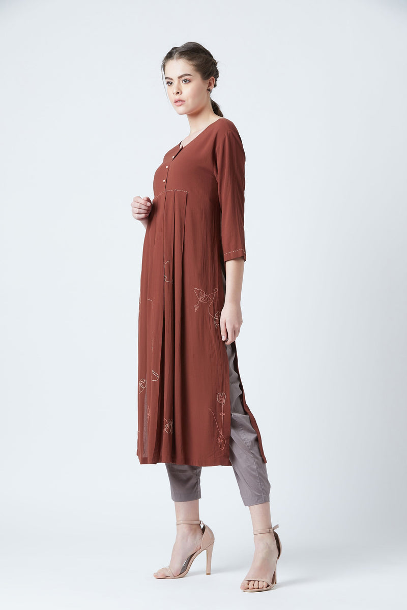 Red Hirsi Tunic
