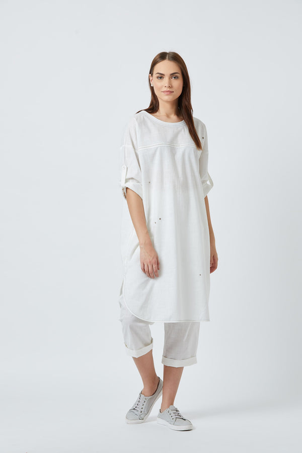 Amy White Tunic