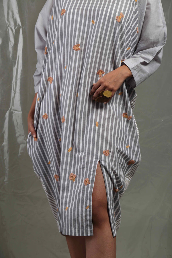 Kaftan Dress With Emb