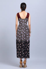 Printed Gathered Dress