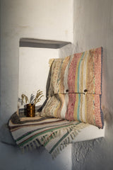 Pastel cushion cover with Tassels