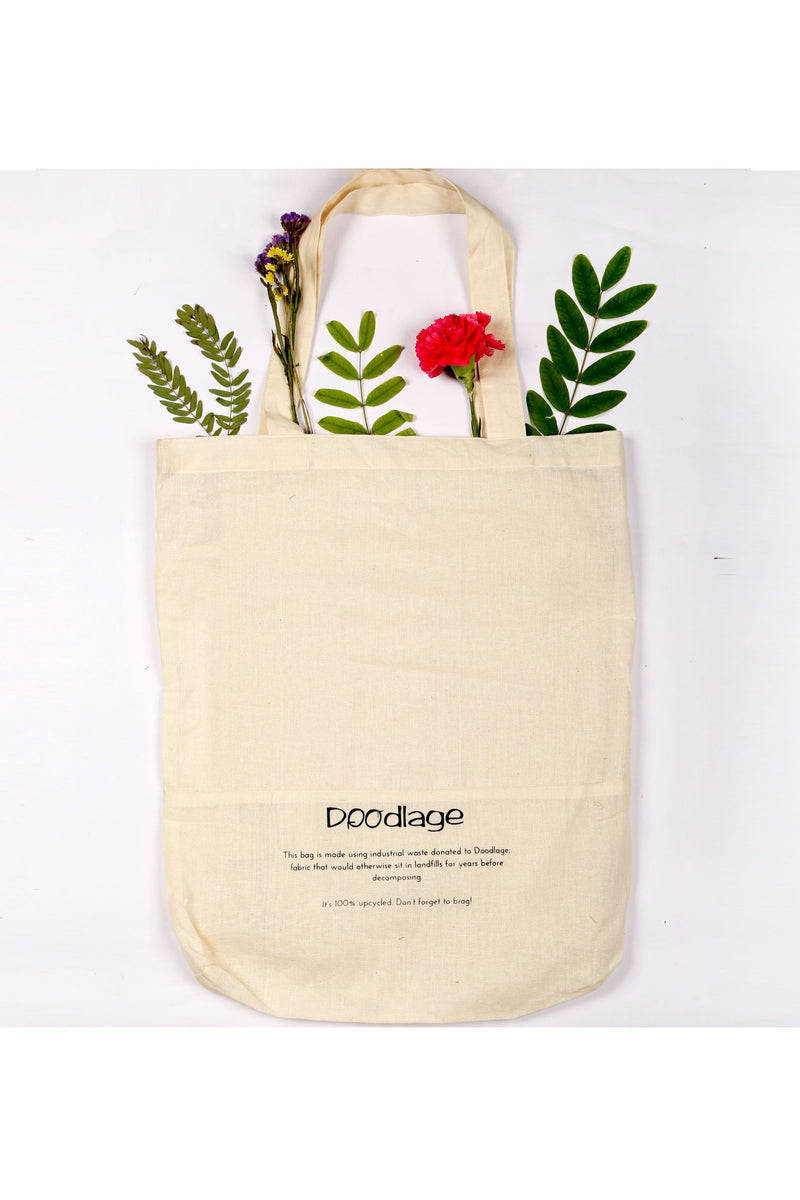 'Made From Fabric Waste' Tote Bag