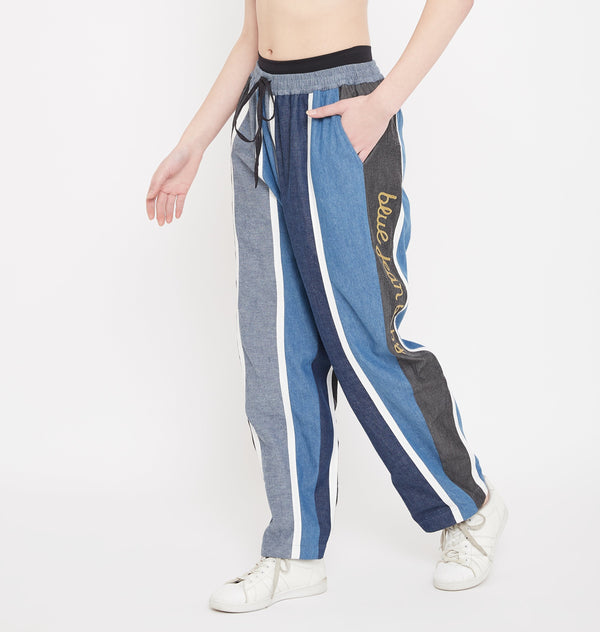 Denim Patch Joggers