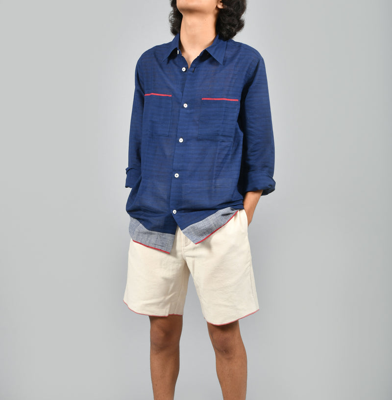Handloom Selvedge Hem Basic Shirt