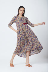 Printed Flared Dress