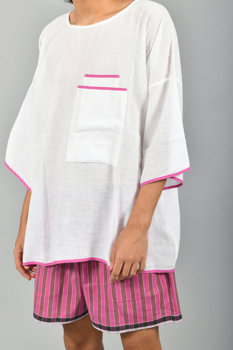 Big T- Shirt Lungi Lounge Shorts Set