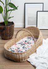 Load image into Gallery viewer, BASSINET SHEET & CHANGE MAT COVER | WATERCOLOUR BLOSSOM