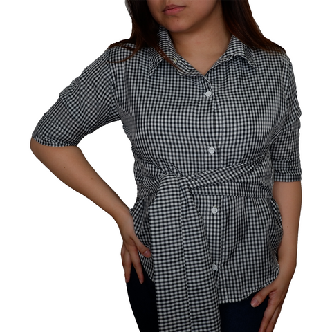 Erika Checkered Blouse