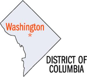 District of Columbia Map