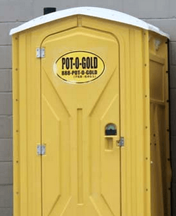 portable toilet cleaning is not a taxable event