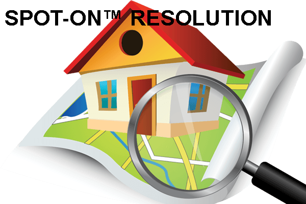 spot-on image of house with magnifying glass
