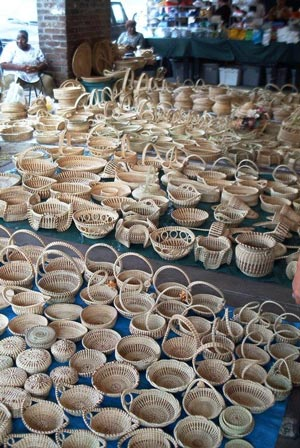 Sweetgrass baskets are sales tax exempt in South Carolina