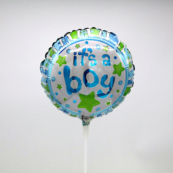 It's A Boy Stick Balloon