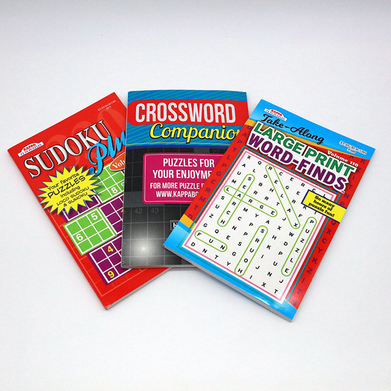 group of three puzzle books