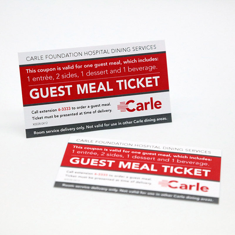 cafeteria meal ticket