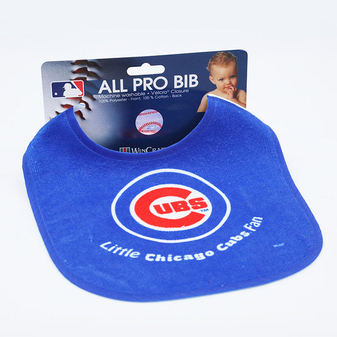 Chicago Cubs logo baby bib