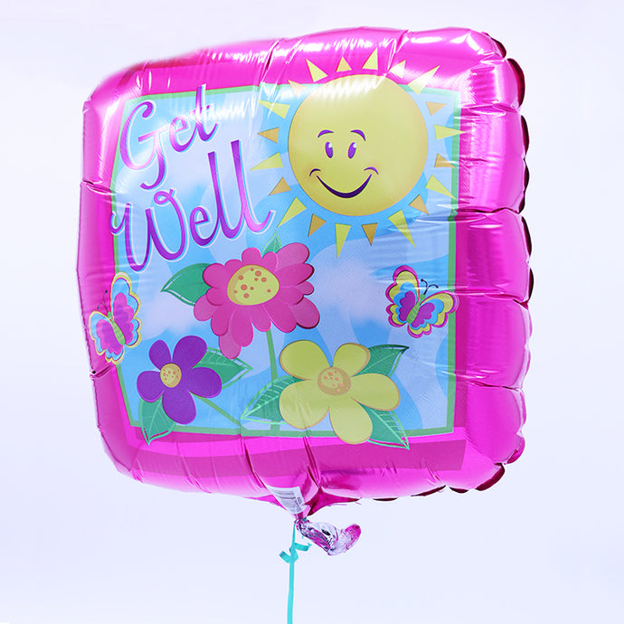 Mylar Helium Balloon - Get Well (click for menu of styles)