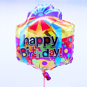 Mylar Helium Balloon - Happy Birthday