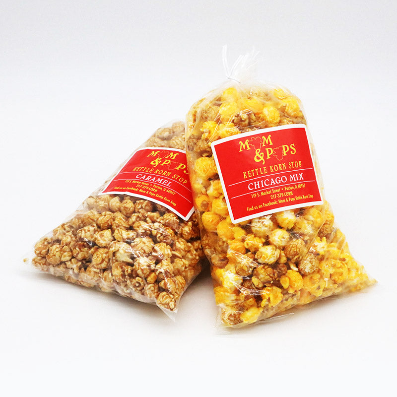 Gourmet Popcorn - bag of caramel and bag of mixed