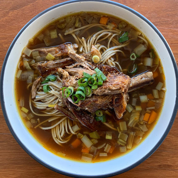 Beef Broth Noodle Soup