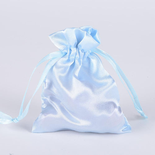 Light Blue - Satin Bags - ( 3x4 Inch - 10 Bags )
