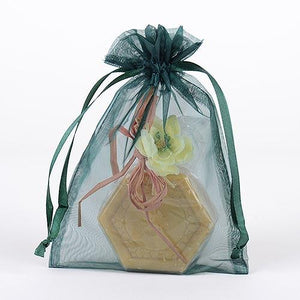 Hunter Green - Organza Bags - ( 4 x 5 Inch - 10 Bags )