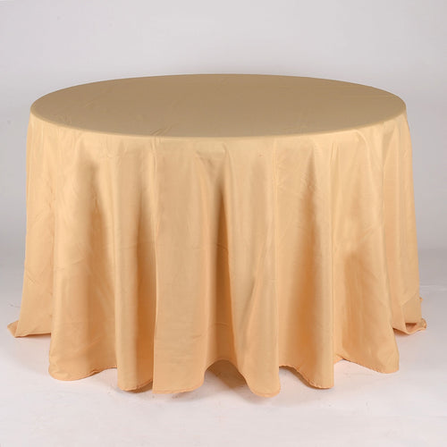 Gold - 108 Inch Polyester Round Tablecloths