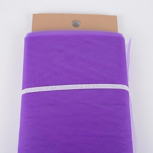 Purple - 54 Inch Premium Quality Nylon Tulle Fabric Bolt ( W: 54 inch | L: 40 Yards )