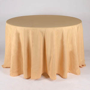 Gold - 120 Inch Polyester Round Tablecloths