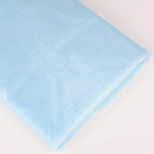 Organza Fabric Bolt (25 Yards) Light Blue