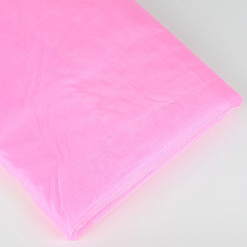 Organza Fabric Bolt (25 Yards) Pink