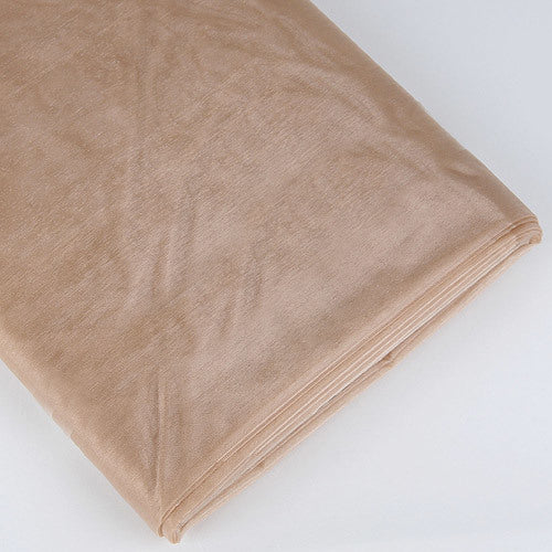 Organza Fabric Bolt (25 Yards) Toffee