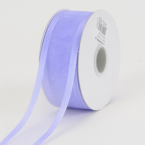 Iris - Organza Ribbon Two Striped Satin Edge - ( W: 5/8 Inch | L: 25 Yards )