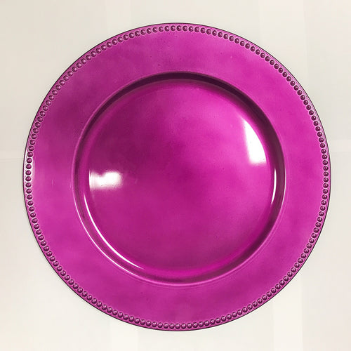 Violet - 13 Inch Round Charger Plates ( Pack of 6 )