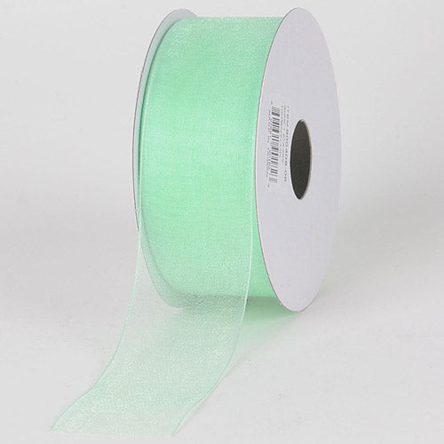 3/8 inch Mint Sheer Organza Ribbon