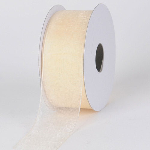 3/8 inch Ivory Sheer Organza Ribbon