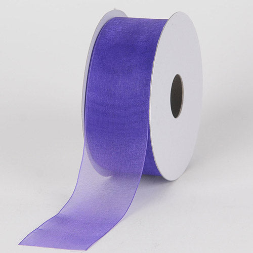 Royal Blue - Sheer Organza Ribbon - ( W: 5/8 Inch | L: 25 Yards )